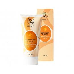 Renew Whitening Sunscreen Cream Demi Make-up SPF-30,100мл -Ренью Защитный крем с тоном