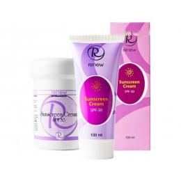 Renew Whitening Sunscreen Cream SPF-30,100мл -Ренью Защитный крем